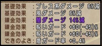 呪いガード 闇14%