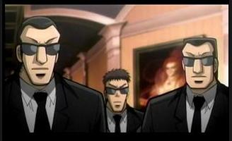スパ盾 黒服