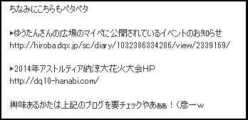 2014年花火 日誌
